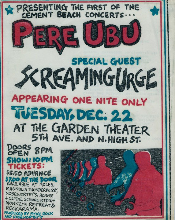 Pere Ubu and Screaming Urge Poster (Courtesy of Marco Capalino)
