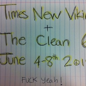 TNV touring with The Clean