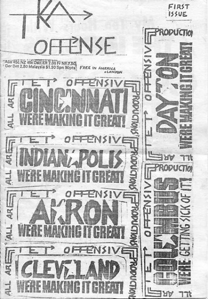 "First issue of ""The Offense"""